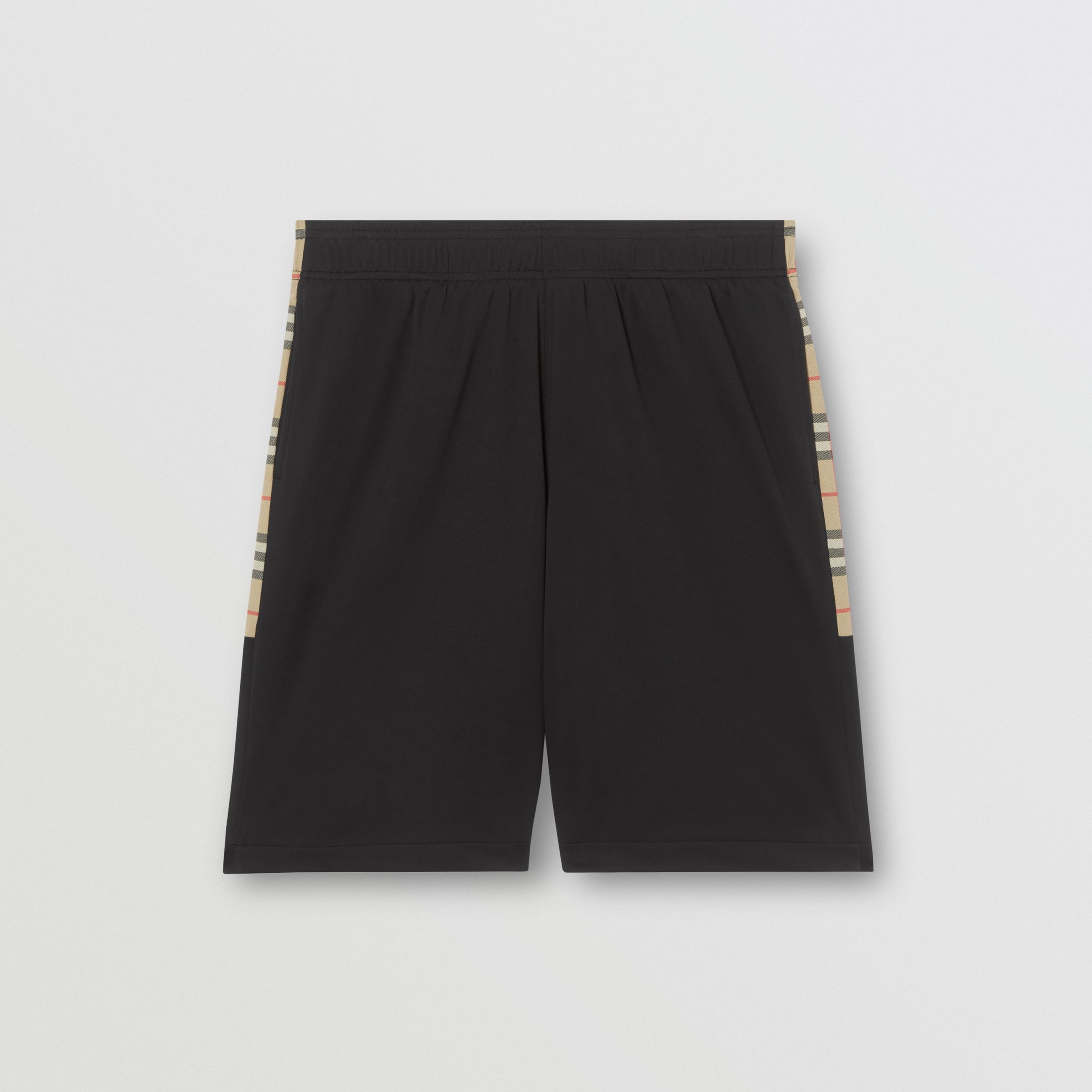 Vintage Check Trim Technical Twill Shorts in Black - Men | Burberry Singapore - 4