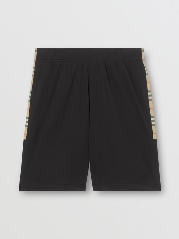 Vintage Check Trim Technical Twill Shorts in Black - Men   Burberry - cell image 3