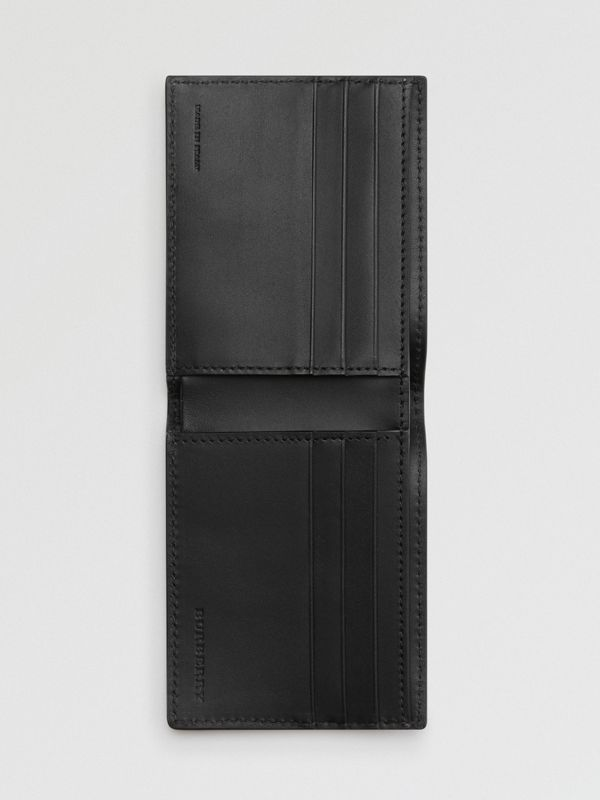 Grainy Leather Bifold Wallet in Black - Men | Burberry Australia - cell image 2