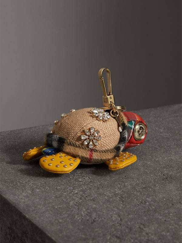 Beatrice The Turtle Cotton Charm in Natural/multicolour | Burberry - cell image 3