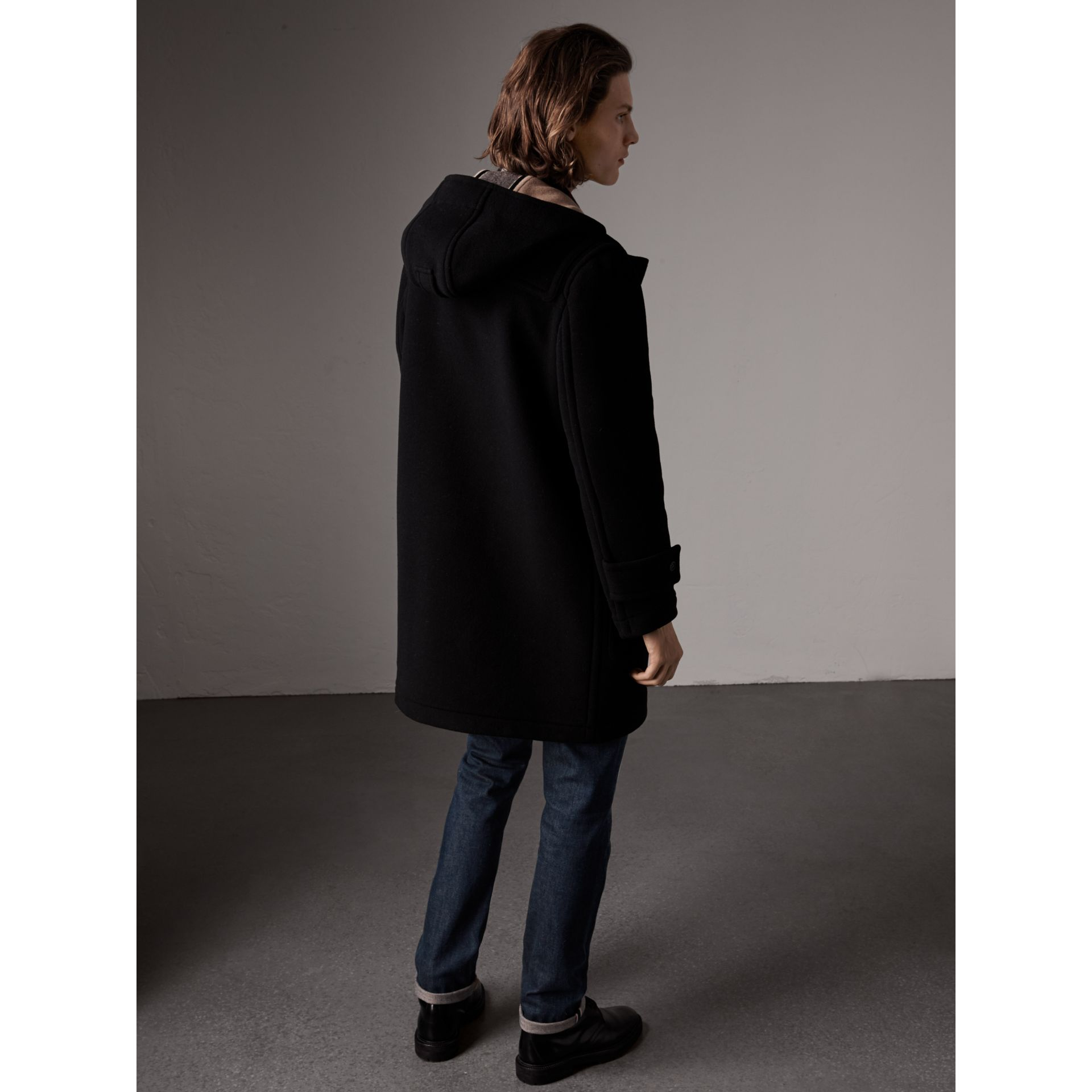 The Greenwich Duffle Coat in Black - Men | Burberry United States - gallery image 2