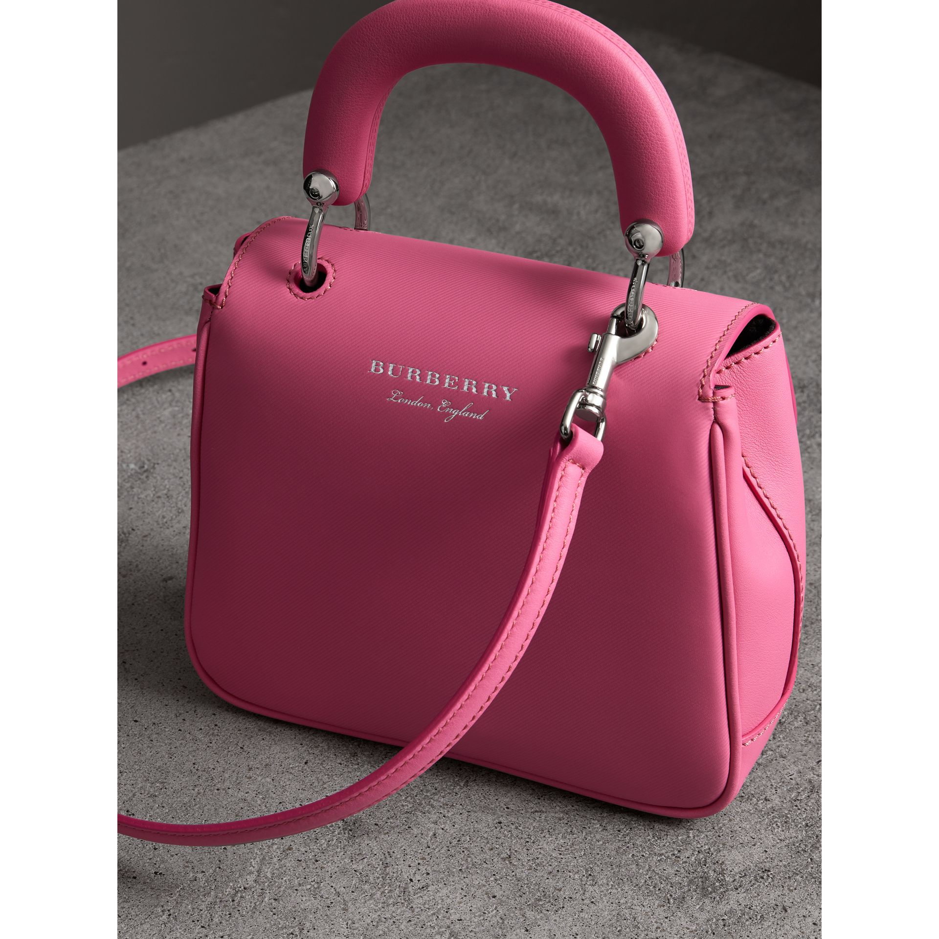 The Small DK88 Top Handle Bag in Rose Pink - Women | Burberry - gallery image 2