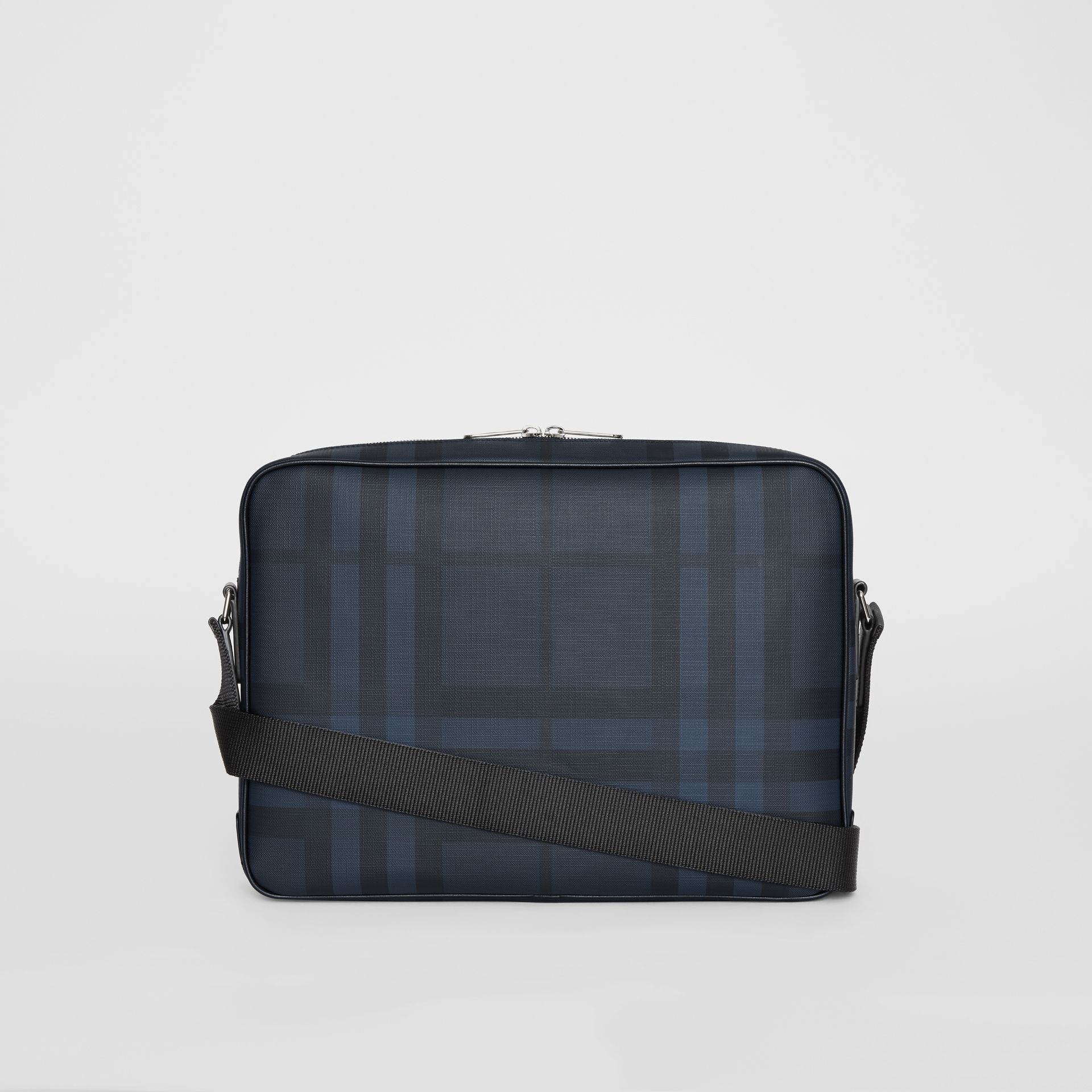 London Check Messenger Bag in Navy/black - Men | Burberry Hong Kong - gallery image 8