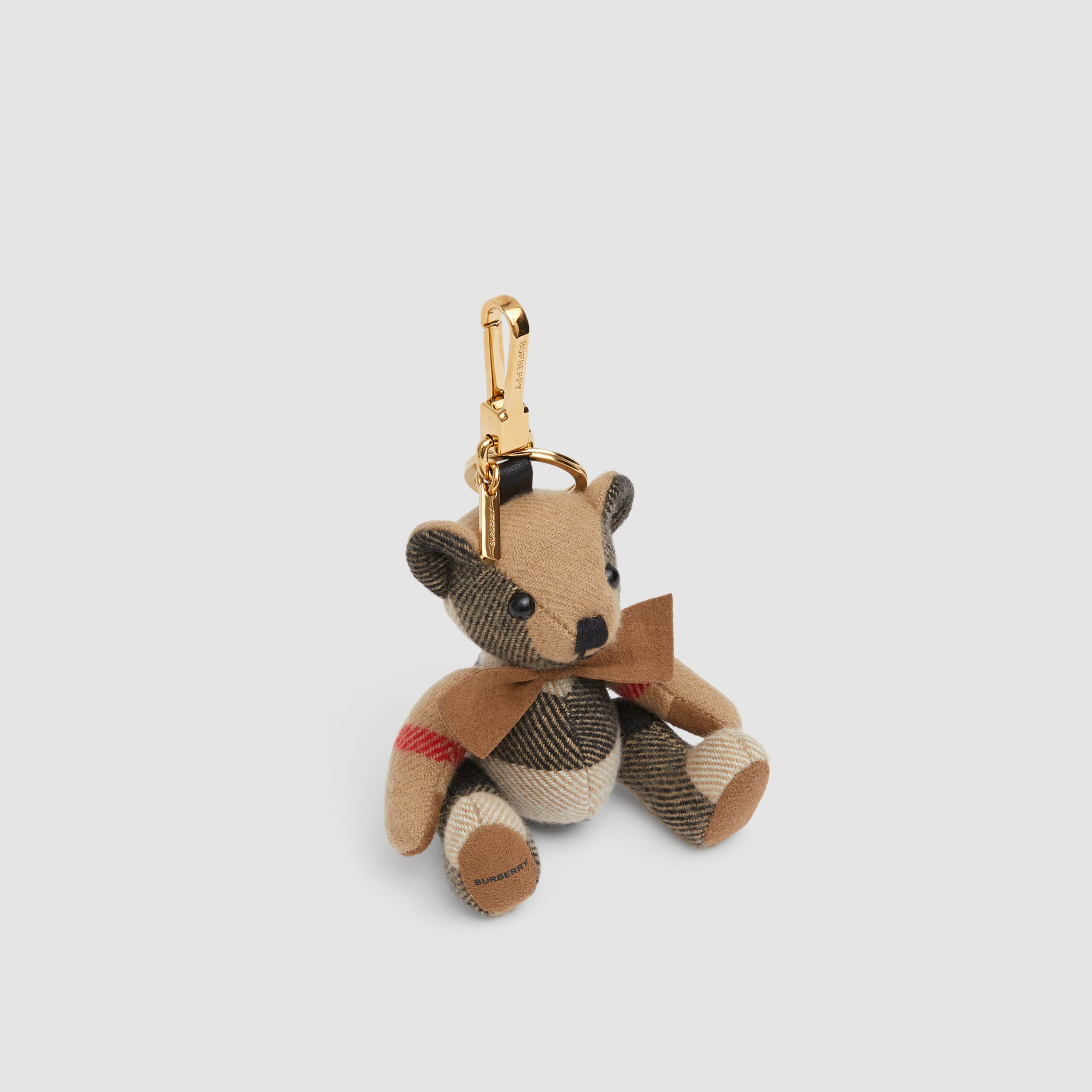 Thomas Bear Charm with Bow Tie in Archive Beige - Women | Burberry Singapore - 3