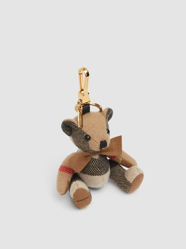Thomas Bear Charm with Bow Tie in Archive Beige - Women   Burberry Australia - cell image 2