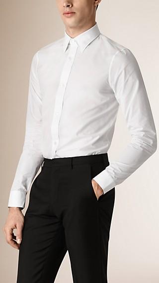 Camisa de corte clásico en algodón