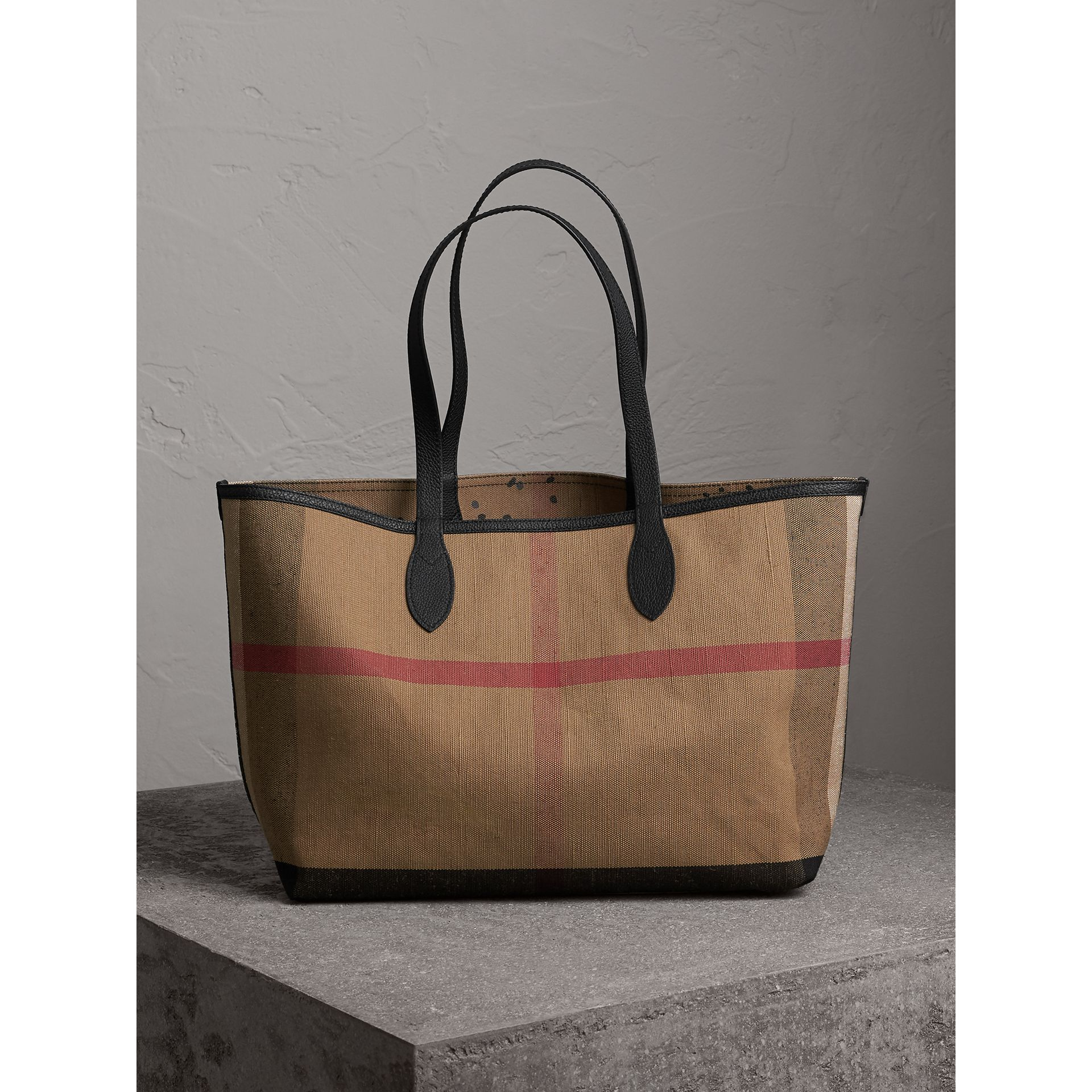 Borsa tote The Doodle media reversibile (Classic Check) | Burberry - immagine della galleria 6
