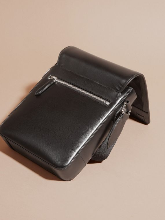 London Leather Crossbody Bag in Black - cell image 3