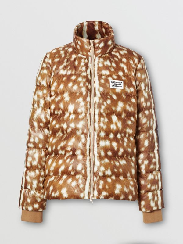 Deer Print Puffer Jacket in Honey - Women | Burberry United Kingdom - cell image 3