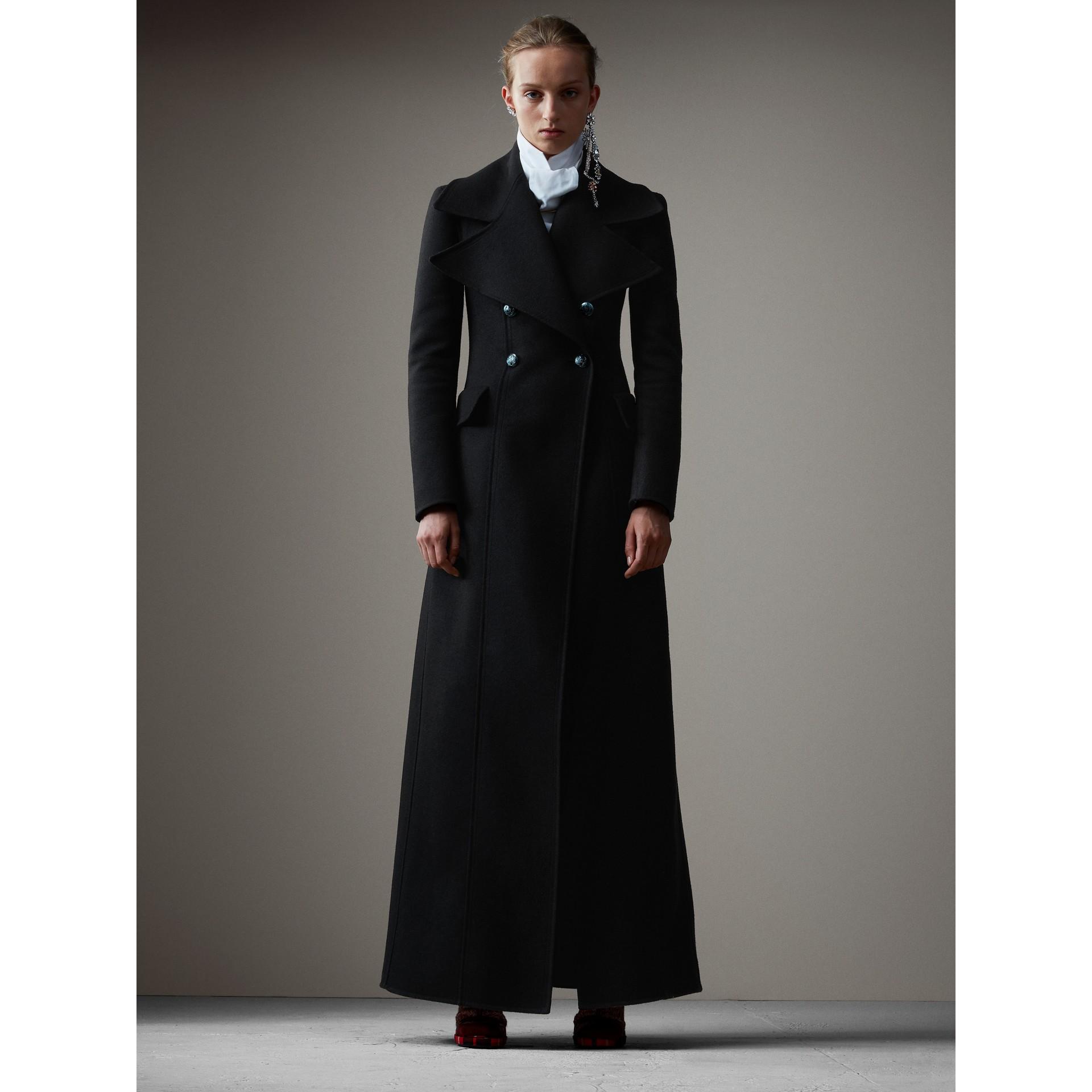 Классическое пальто макси из валяной шерсти (Черный) - Для женщин | Burberry - изображение 7