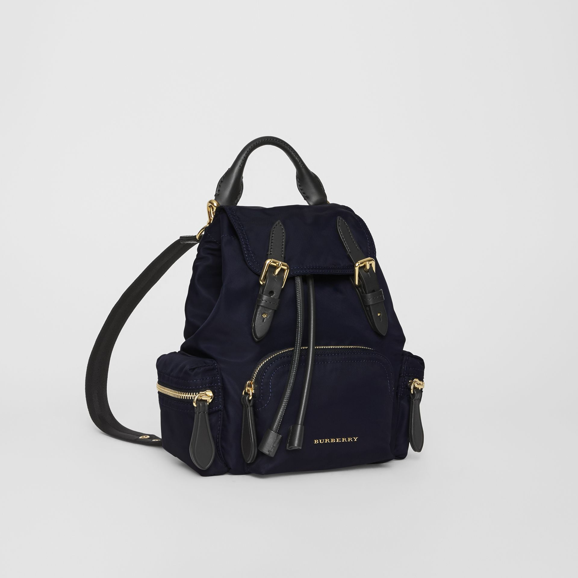 The Small Crossbody Rucksack in Nylon in Ink Blue - Women | Burberry Hong Kong - gallery image 7