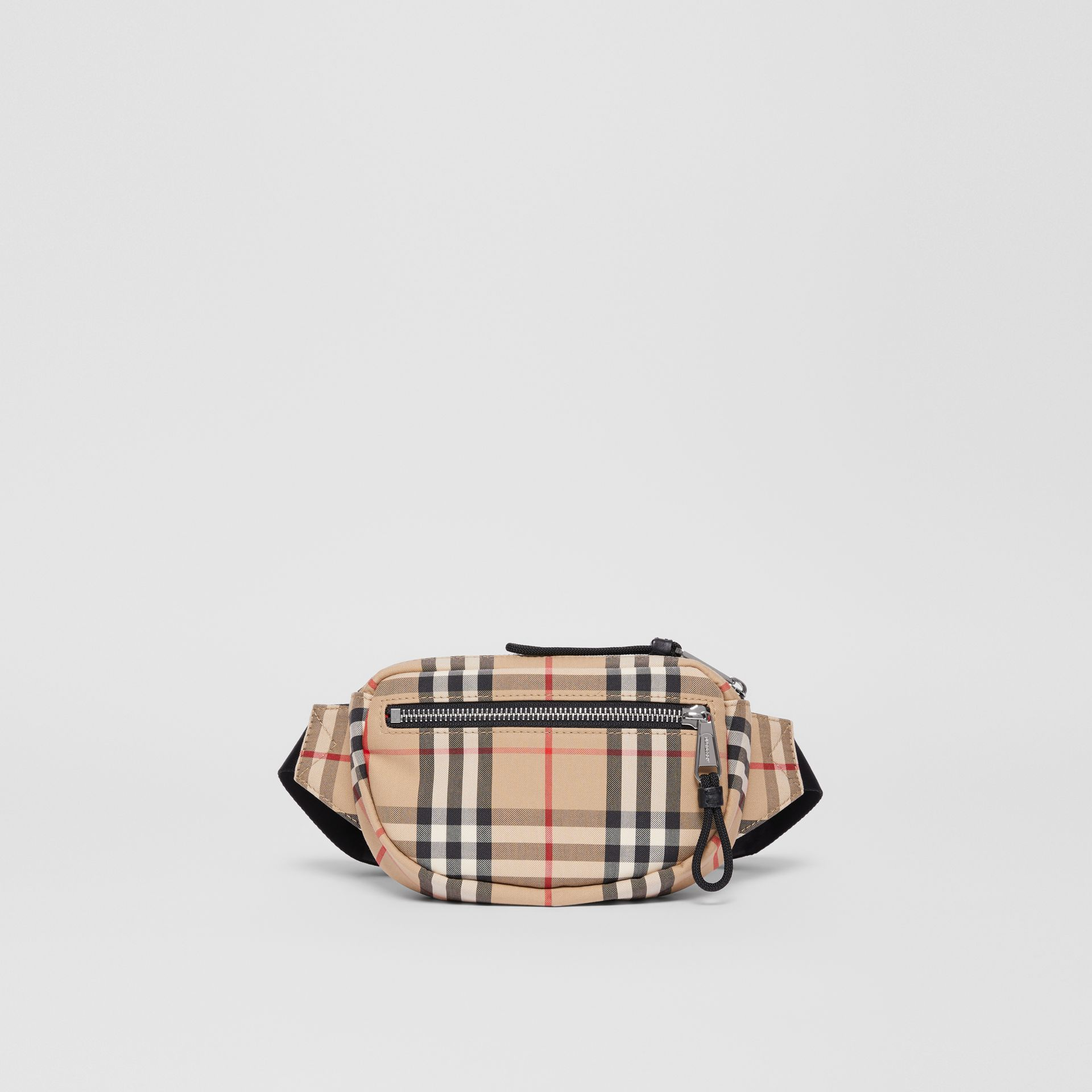 Small Vintage Check Cannon Bum Bag in Archive Beige | Burberry United Kingdom - gallery image 0