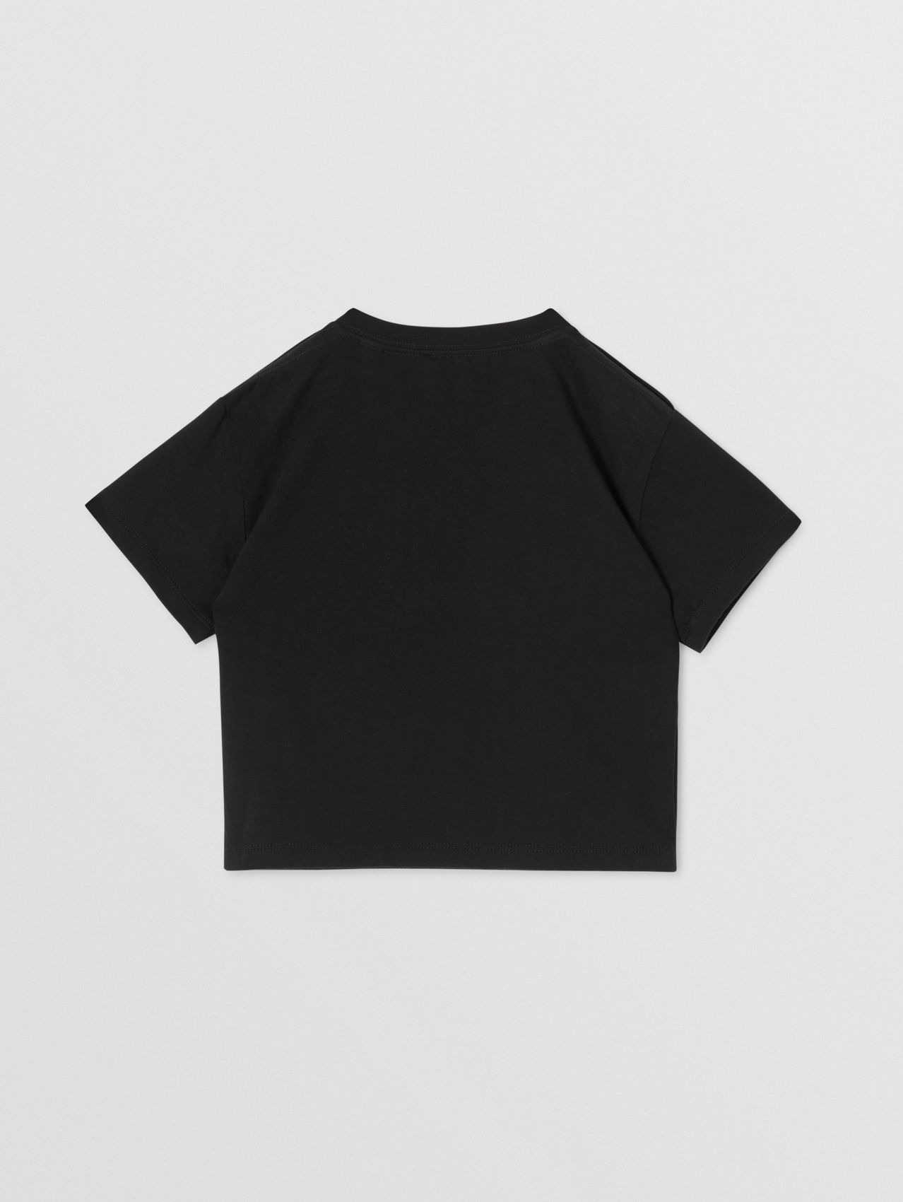 Logo Print Cotton T-shirt in Black