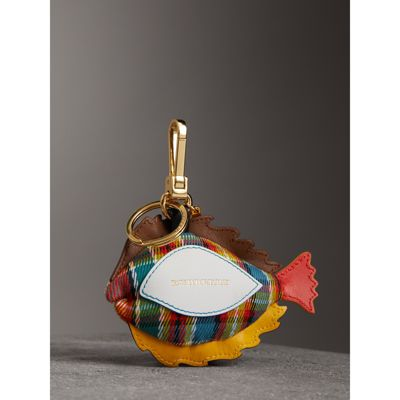 Burberry Sole Fish Charm Bag Accessory in Natural Crystal