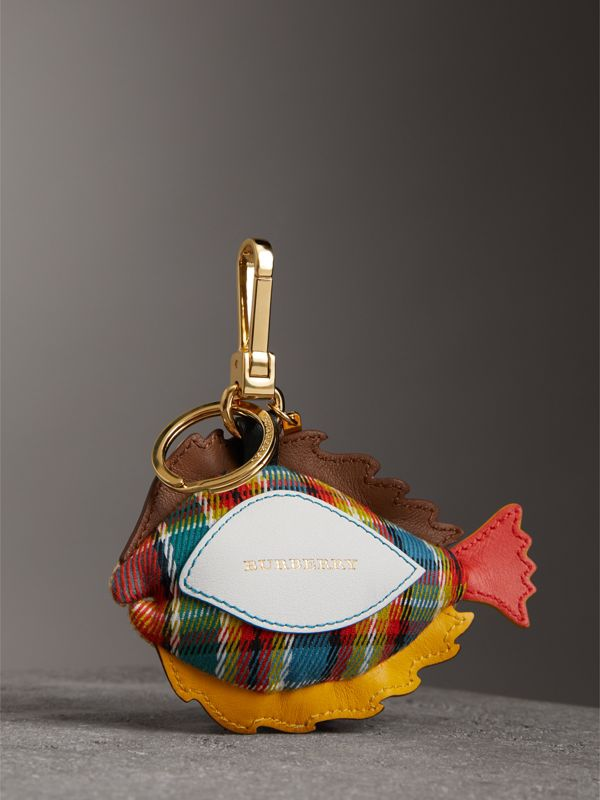 Jude The Sole Fish Cotton Charm in Natural Multicolour | Burberry - cell image 3