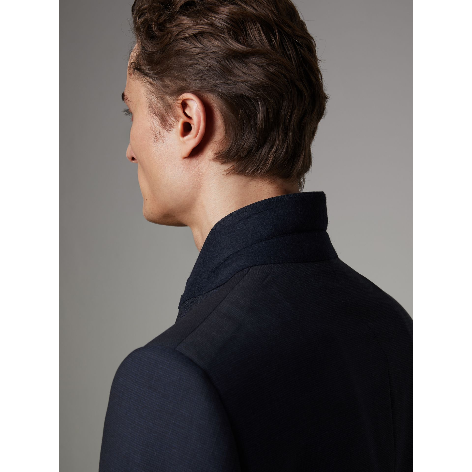 Modern Fit Wool Half-canvas Suit in Navy - Men | Burberry - gallery image 5