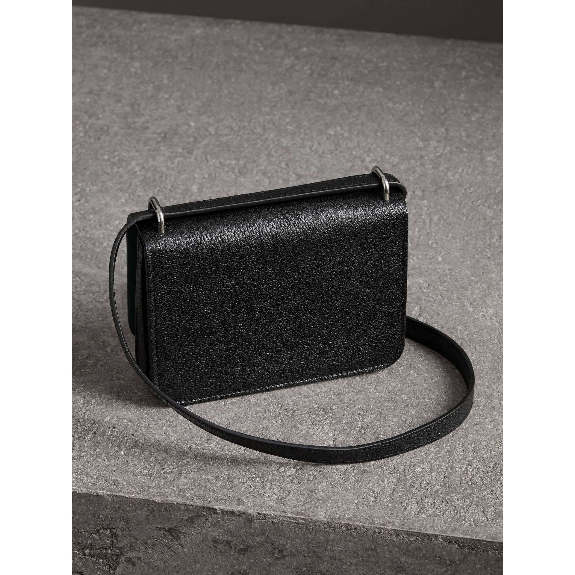 The Mini Leather D-ring Bag in Black - Women | Burberry - gallery image 2