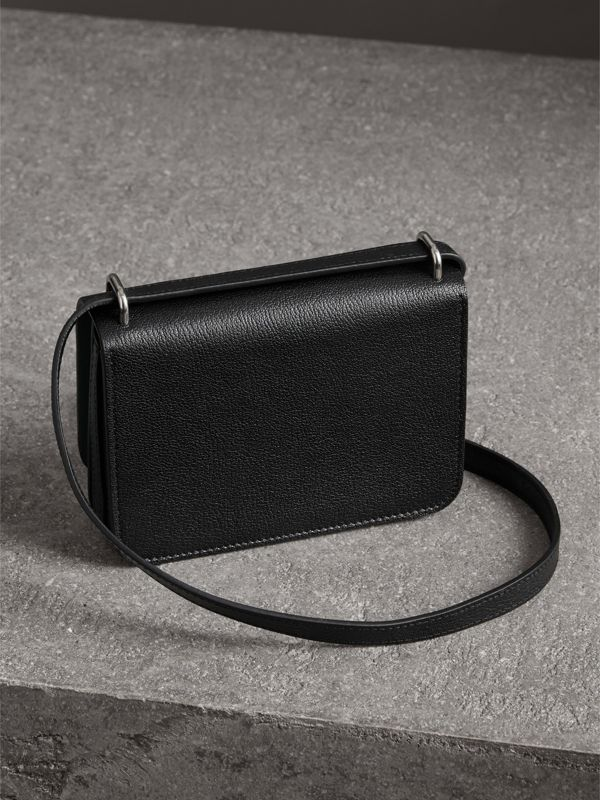 The Mini Leather D-ring Bag in Black - Women | Burberry Canada - cell image 2