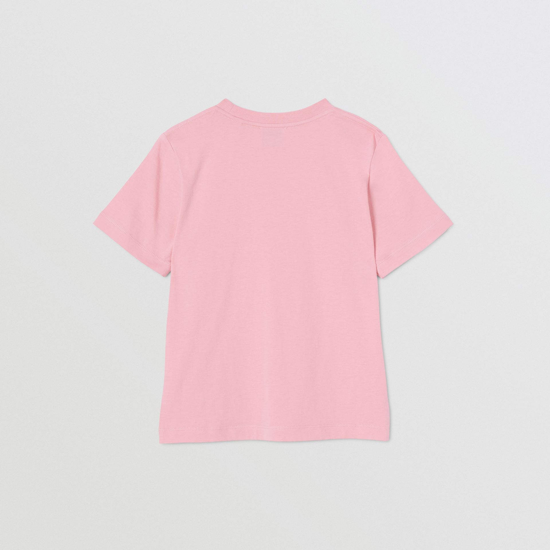 Logo Print Cotton T-shirt in Candy Pink | Burberry United Kingdom - gallery image 3