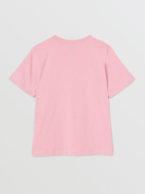 Logo Print Cotton T-shirt in Candy Pink | Burberry United Kingdom - cell image 3