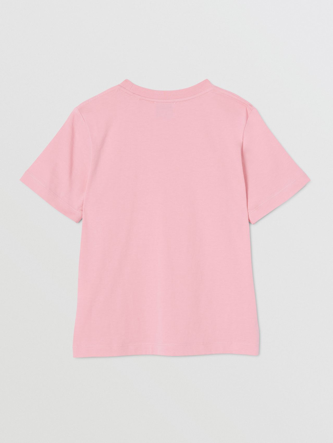 Logo Print Cotton T-shirt (Candy Pink)