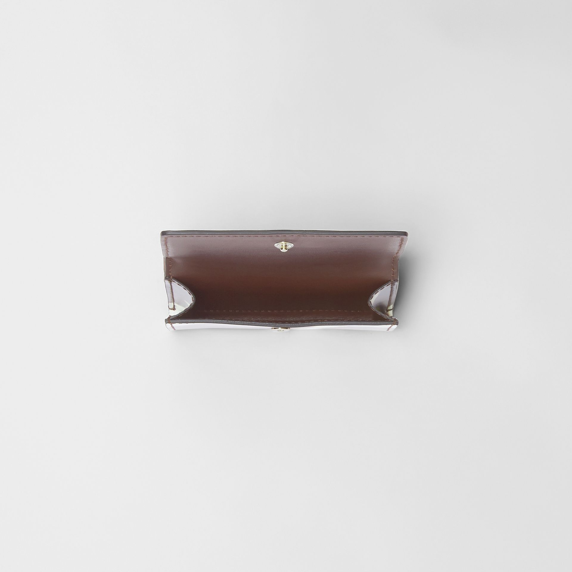 Small Cow Print Leather Folding Wallet in Malt Brown - Women | Burberry Canada - gallery image 2