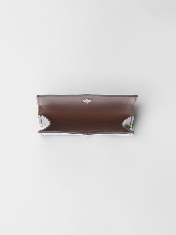 Small Cow Print Leather Folding Wallet in Malt Brown - Women | Burberry United Kingdom - cell image 2