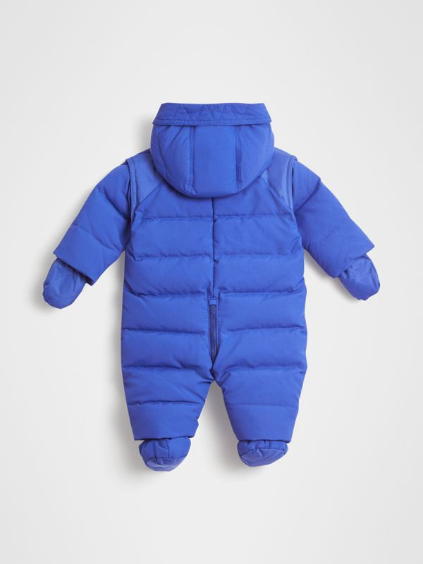Down-filled Puffer Suit in Royal Blue - Children | Burberry - cell image 3