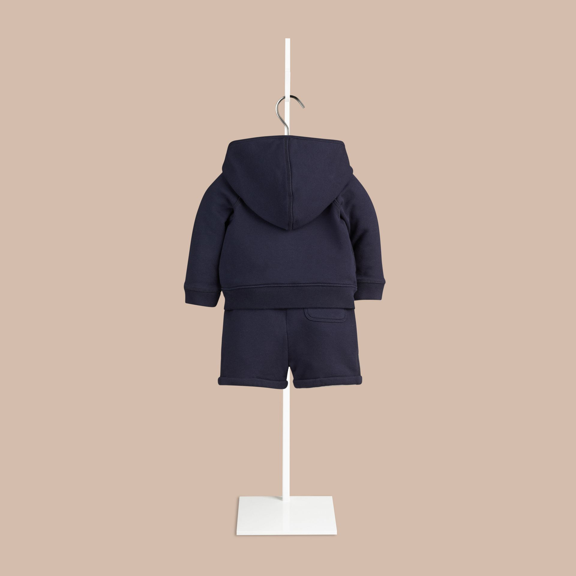 Navy Cotton Jersey Two-piece Set - gallery image 2