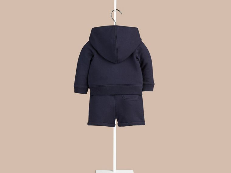 Navy Cotton Jersey Two-piece Set - cell image 1