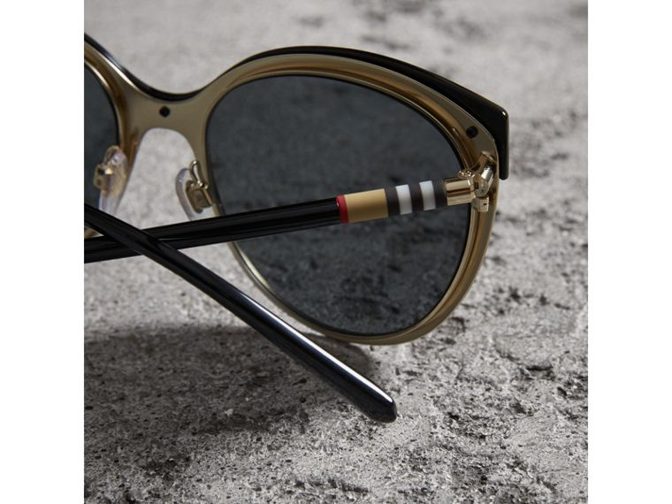 Cat-eye Frame Sunglasses in Black - Women | Burberry - cell image 1