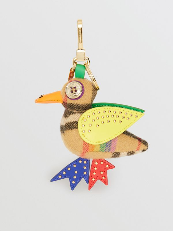 Barry The Duck Rainbow Vintage Check Charm in Multicolour/antique Yellow | Burberry United Kingdom - cell image 2