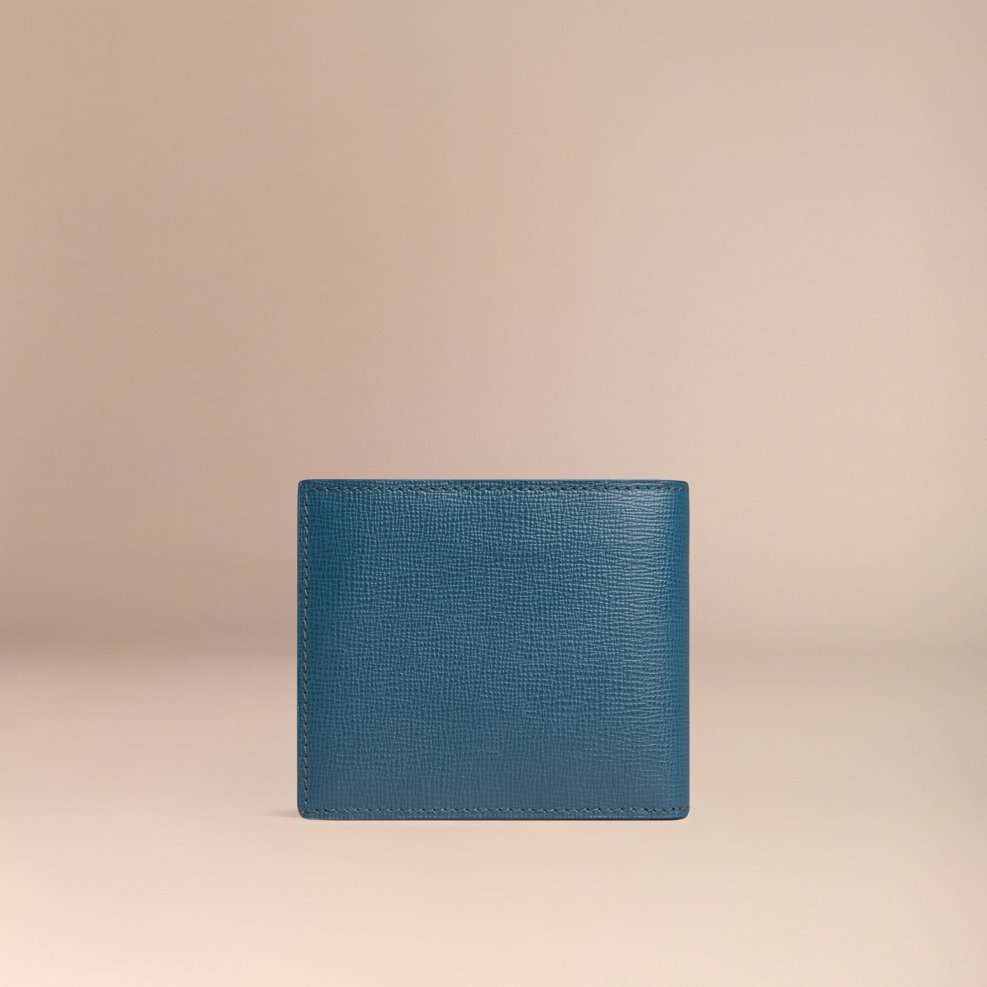 Mineral blue London Leather Folding Wallet Mineral Blue - gallery image 3