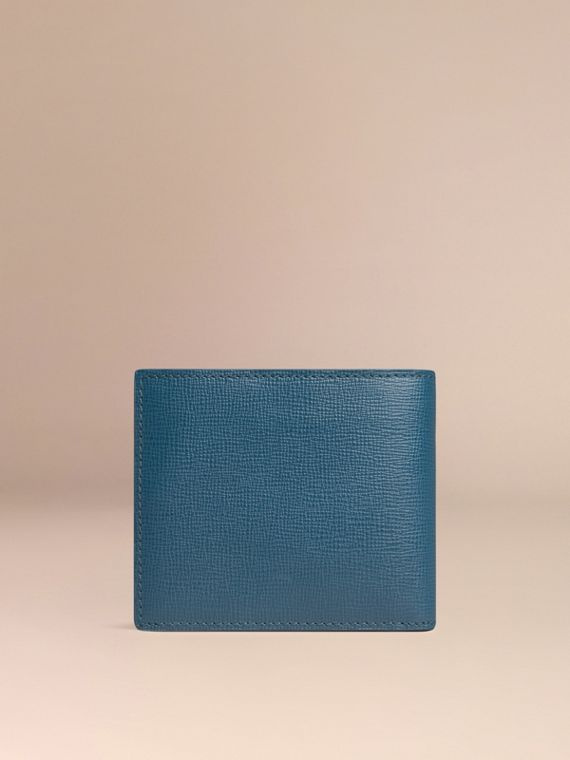 Mineral blue London Leather Folding Wallet Mineral Blue - cell image 2