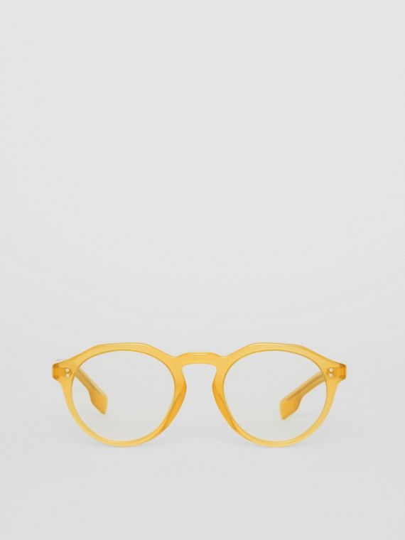 Keyhole Round Optical Frames in Ochre Yellow