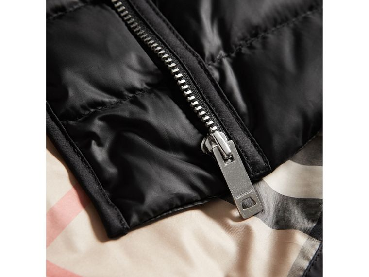 Showerproof Down-filled Jacket in Black | Burberry - cell image 1