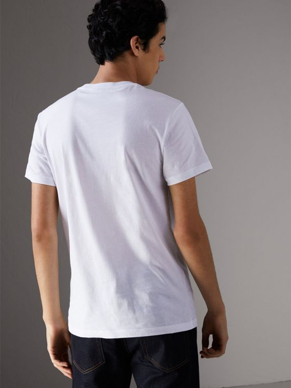 Creature Motif Cotton T-shirt in White - Men | Burberry - cell image 2