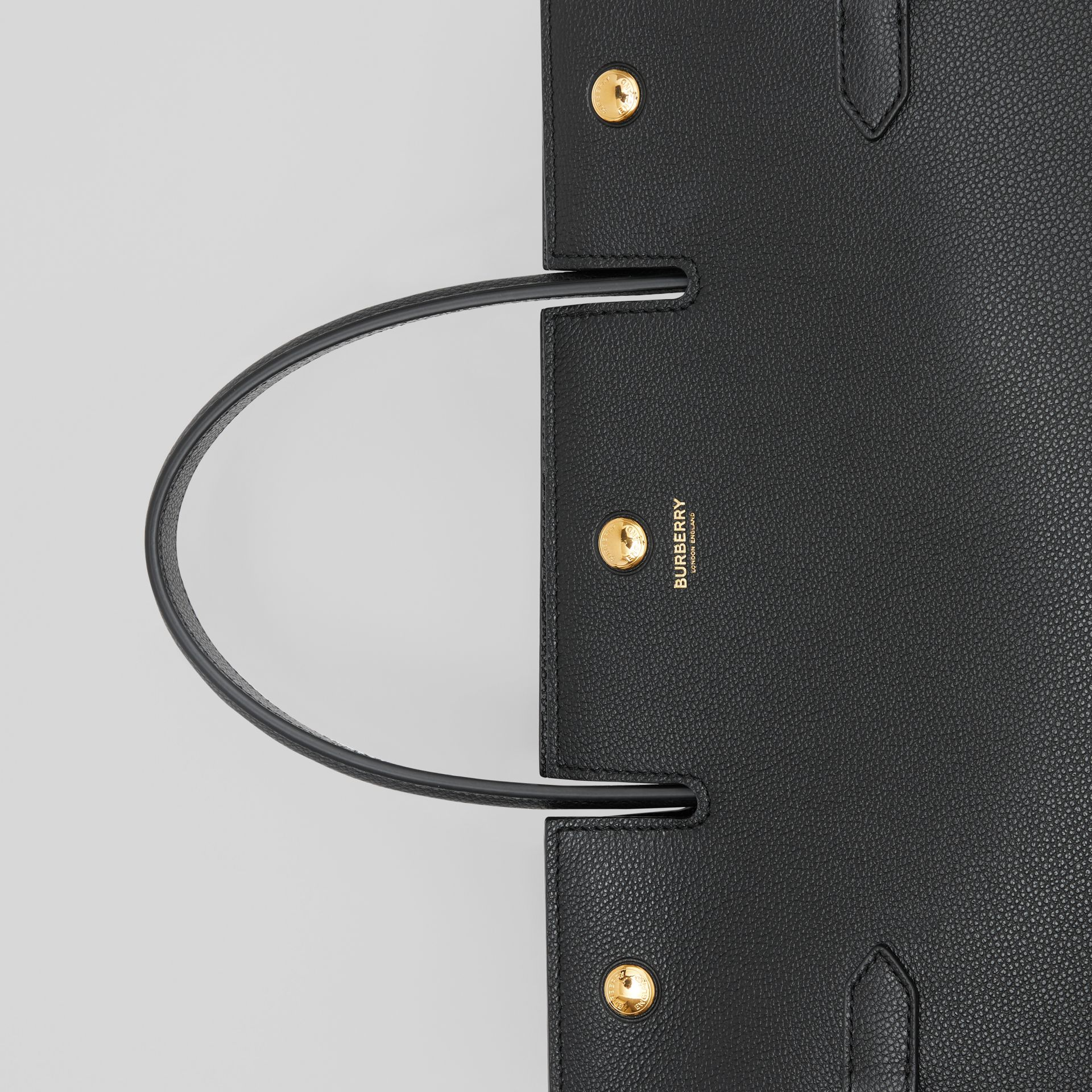 Medium Leather Title Bag in Black - Women | Burberry - gallery image 8