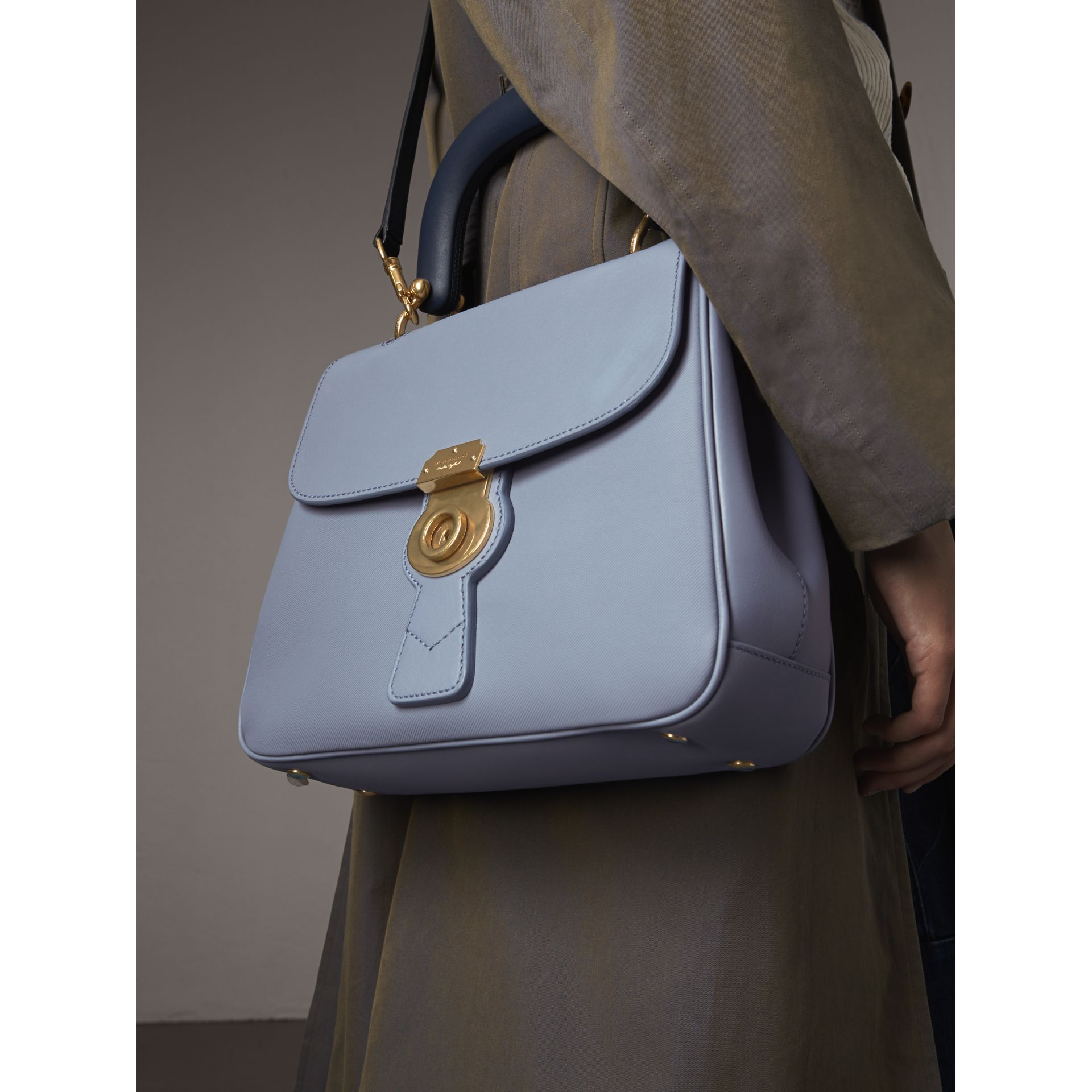The Medium DK88 Top Handle Bag in Slate Blue - Women | Burberry - gallery image 3
