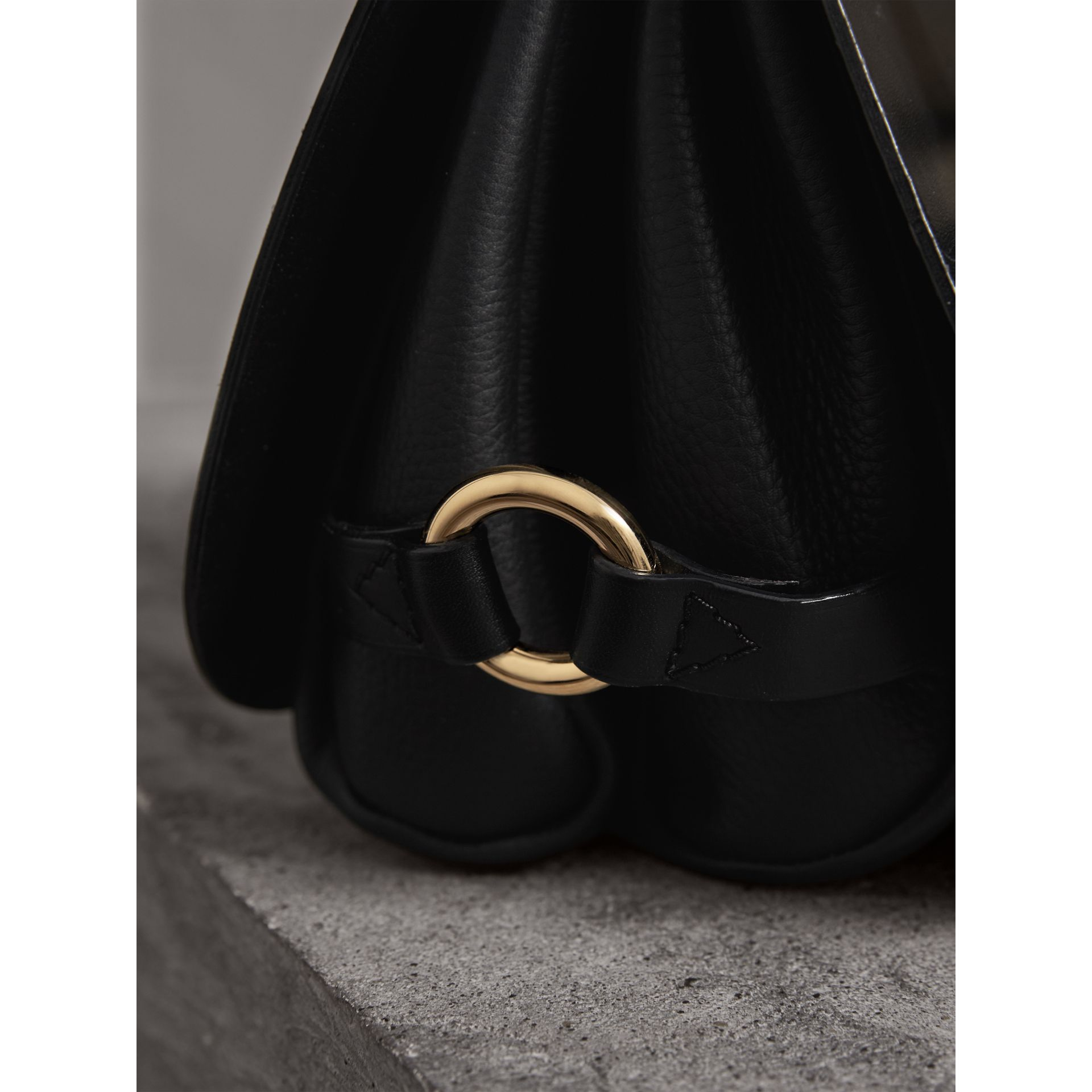 The Bridle Bag in Leather in Black - Women | Burberry - gallery image 2