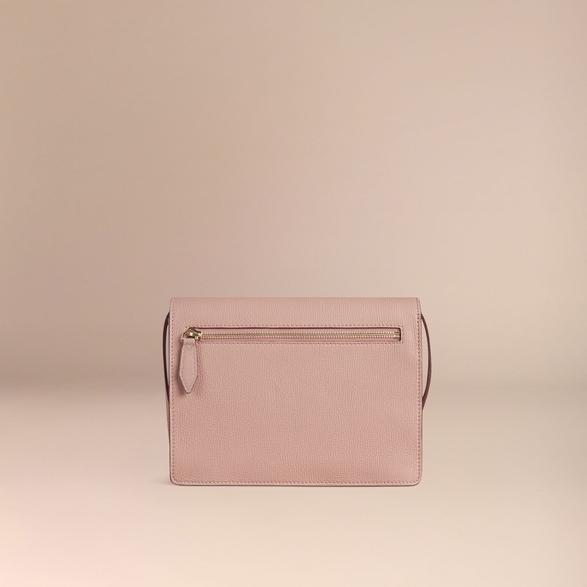 Pale orchid Small Leather and House Check Crossbody Bag Pale Orchid - gallery image 4
