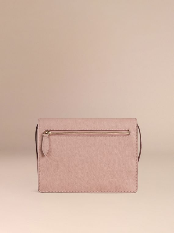 Small Leather and House Check Crossbody Bag in Pale Orchid - cell image 3