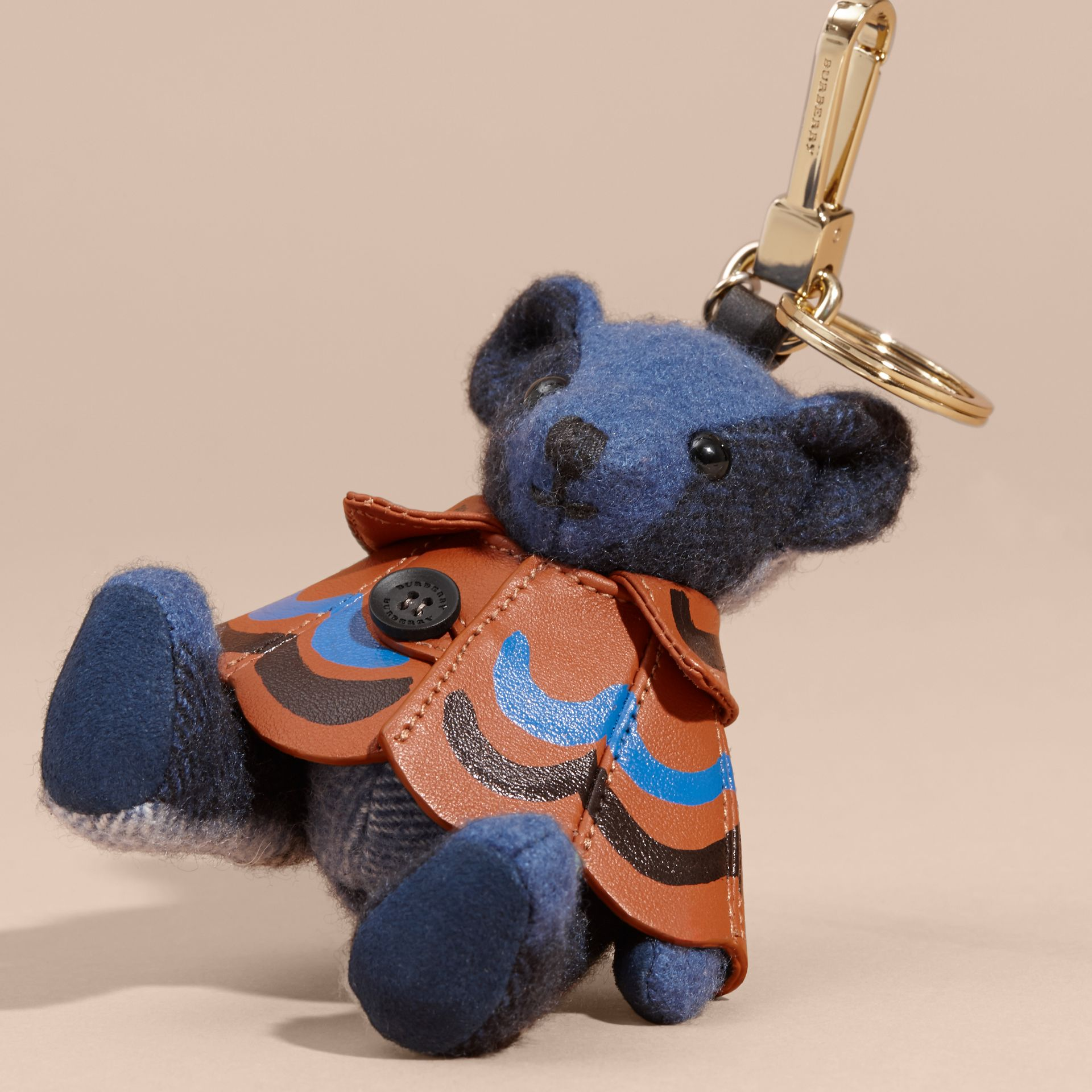 Thomas Bear Charm in Trompe L'oeil Print Cape Cadet Blue - gallery image 2