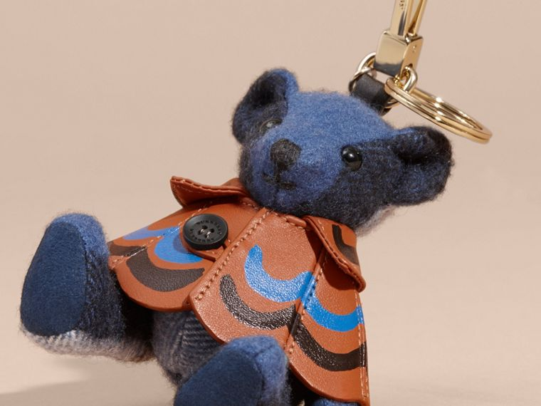 Thomas Bear Charm in Trompe L'oeil Print Cape Cadet Blue - cell image 1