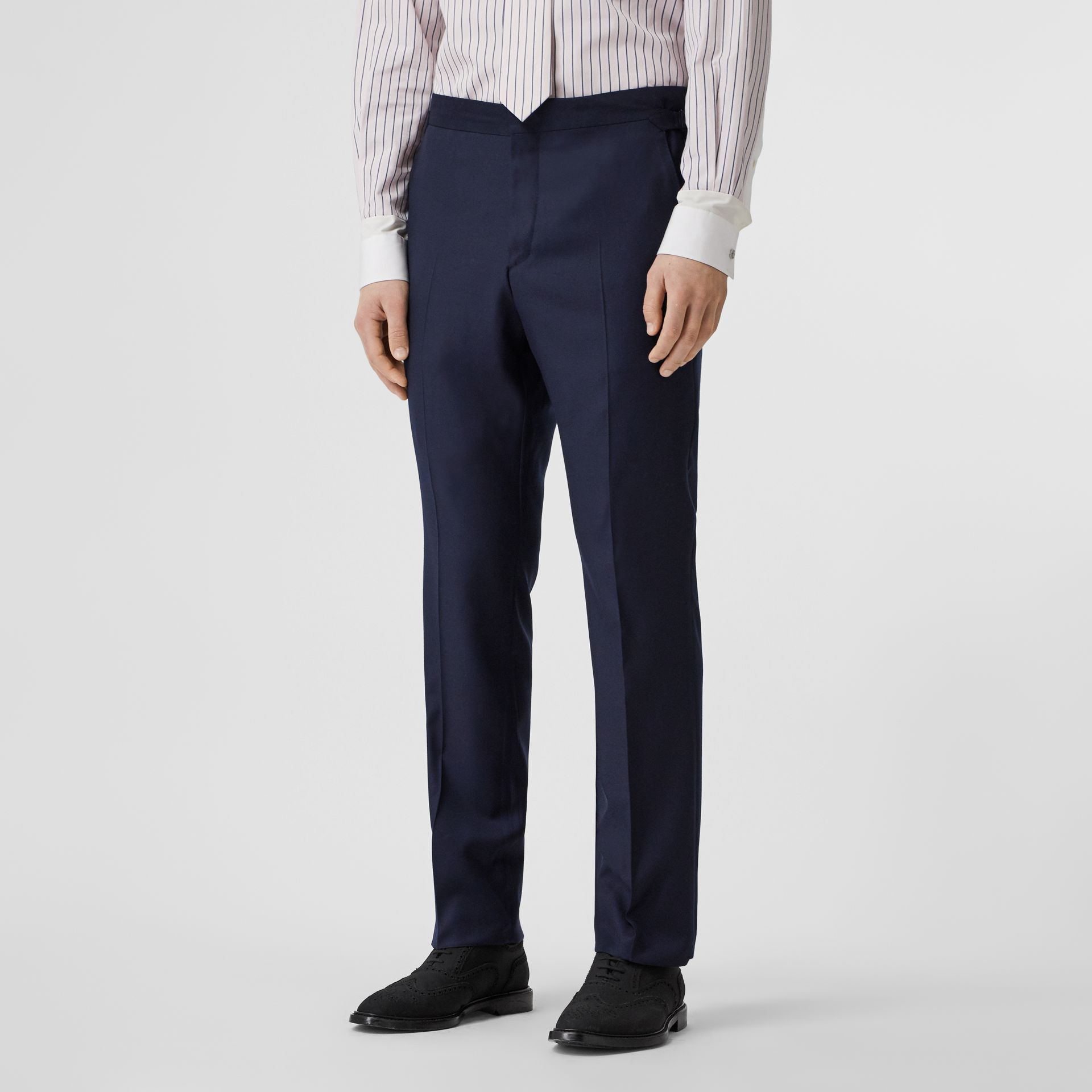Classic Fit Wool Suit in Navy - Men | Burberry Singapore - gallery image 6