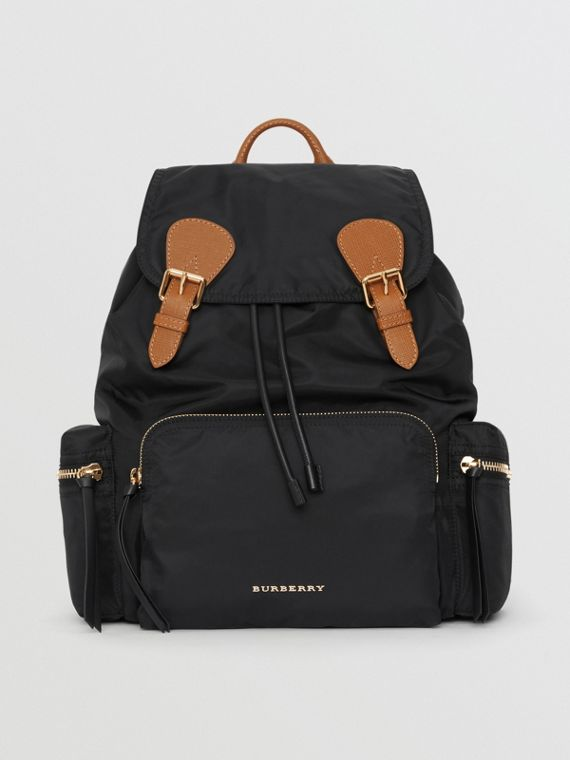 f94b235ad71a The Large Rucksack in Technical Nylon and Leather in Black