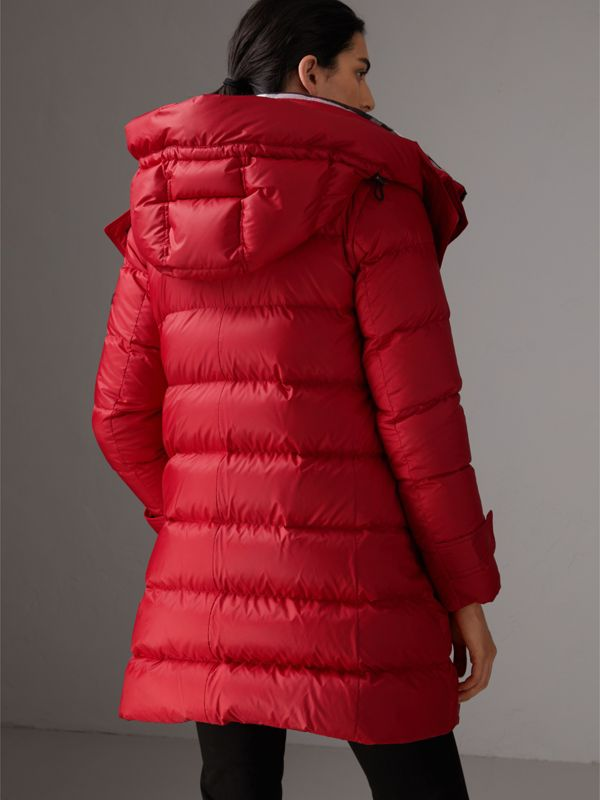 Down-filled Puffer Coat With Detachable Hood in Parade Red - Women | Burberry - cell image 2