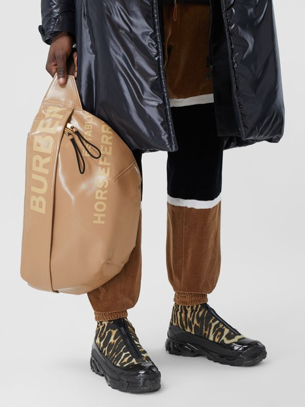 Extra Large Horseferry Print Coated Canvas Bag in Beige - Men | Burberry United Kingdom - cell image 2