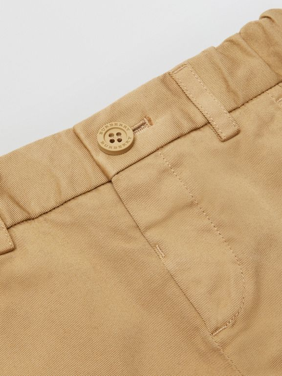 Cotton Chino Shorts in Taupe - Children | Burberry Canada - cell image 1