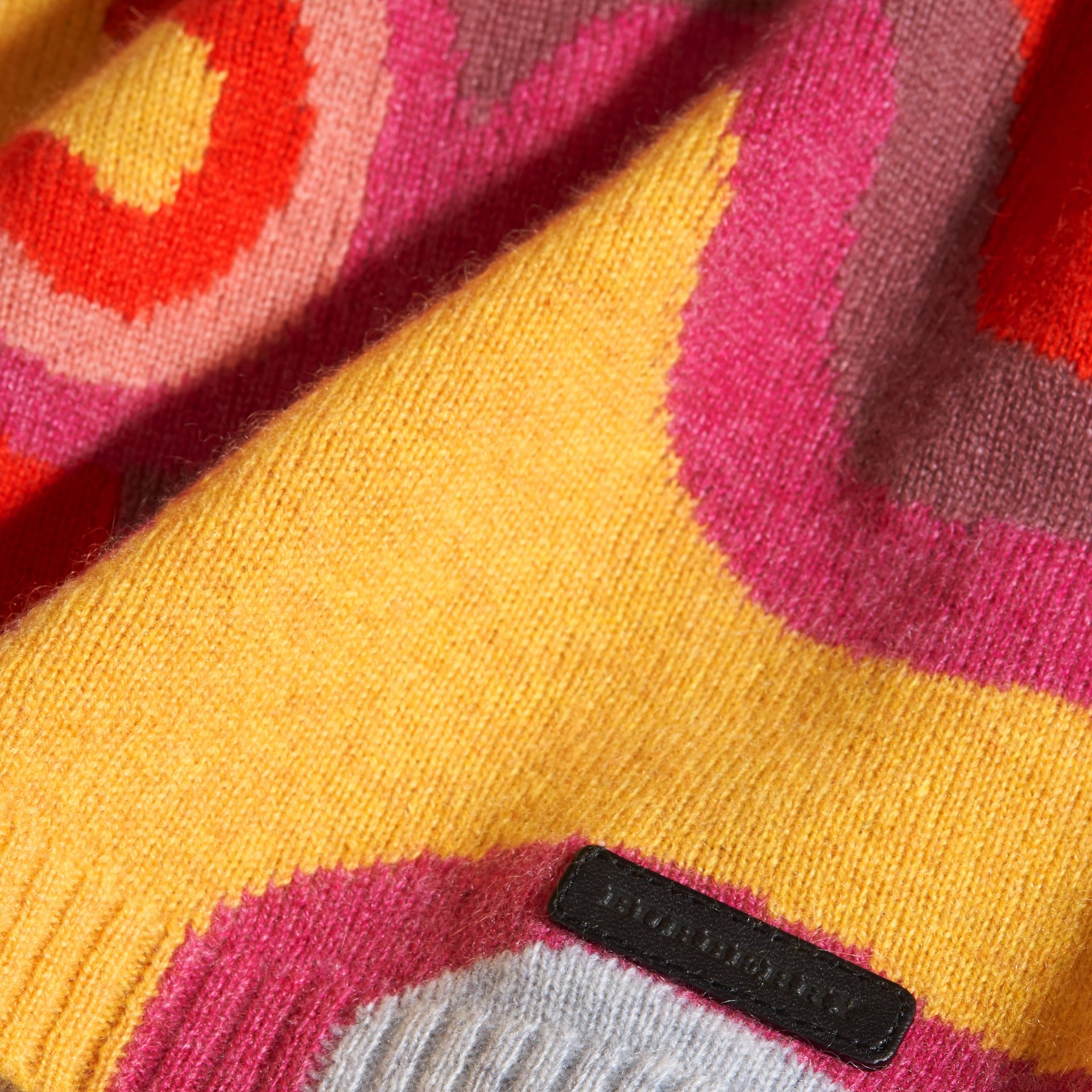Rainbow Intarsia Cashmere Sweater - gallery image 2